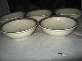 """5 Pfaltzgraff Juniper 6"""" Soup / Cereal Bowls ~ USA - $8.50"""