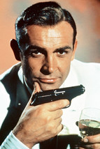 Sean Connery Goldfinger With Cocktail and Gun Classic Iconic Pose 18x24 ... - $23.99