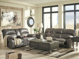 NEW Modern Living Room Couch Set - Gray Fabric Power Reclining Sofa Love... - $2,327.78