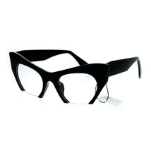 Womens Fashion Clear Lens Glasses Cropped Cateye Eyeglasses Frame UV 400 - $11.95