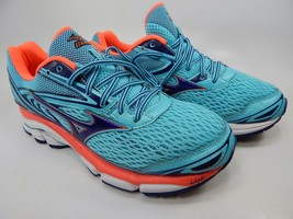 Mizuno Wave Inspire 13 Size 8 M (B) EU 38.5 Women's Running Shoes Aqua Orange