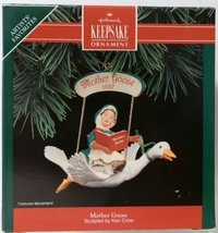 Mother Goose Handcrafted Christmas Ornament - Sculpted By Ken Crow - 199... - $3.67