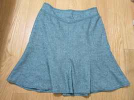 #373--  Ann Taylor Loft green patterned wool blend skirt, size Petite 6P... - $8.20