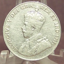 KM#29 1933 Canadian 5c Coin VF #0488 - $5.87