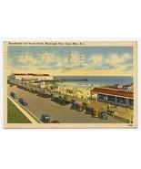 Boardwalk and Beach Front Municipal Pier Postcard Cape May New Jersey 1947 - $11.88