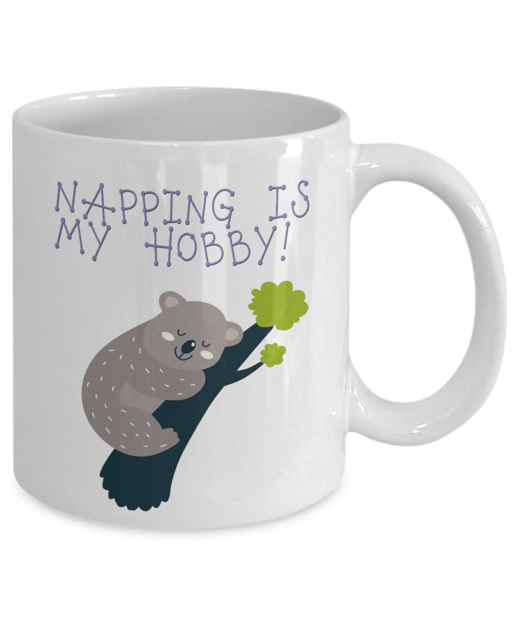 Napping Is My Hobby Koala Bear Coffee Mug