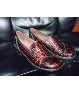 CLARKS Bendables 38634 Brown Moc Croc Slip ons size 7M Women's EUC - $32.40