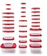 Plastic Food Container Kitchen Tupperware Storage Clear Meal Prep Vented... - £31.56 GBP