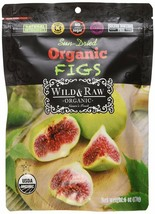 Wild & Raw Sun-dried Turkish Organic Figs,6 oz Pouches, Case of 24 - $103.86