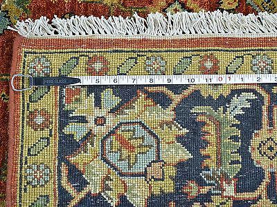 6 X 16 Wide Runner Hand Knotted Red Fine Agra Oriental Rug Vegetable Dyes G24106