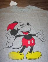 Walt Disney Retro Mickey Mouse In Santa Hat Christmas T-Shirt Xl New w/ Tag - $19.80