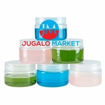 Clear 4 Ounce Plastic Jar Containers, 6 Pack of Plastic Storage Jars wit... - $22.63