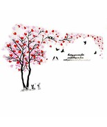 XMSJSIY Double Tree Wall Mural Decals for Bedroom Living Room DIY Tree 3... - $29.99