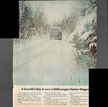A Beautiful Day To Own A Volkswagen Station Wagon 1966 Antique Advertise... - $1.50