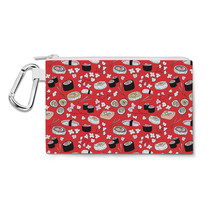Sushi Cherry Blossom Canvas Zip Pouch - $15.99+