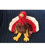 "Ty Beanie Buddies Baby GOBBLES stuffed Turkey 11"" long 1999 retired MINT... - $11.87"