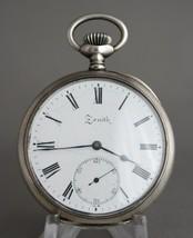 Vintage Zenith 15J Wind Silver Pocket Watch High Grade + Micro Regulator... - $420.40