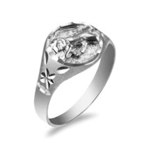 Sterling Silver Leo Ladies Zodiac Sign Ring - £19.00 GBP