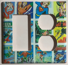 DC Superhero Comics USPS Stamps Light Switch Power wall Cover Plate Home decor image 8
