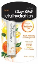 ChapStick Total Hydration Essential Oils Lip Balm Happy Orange + Lemon n... - $9.99