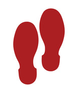 LiteMark 9 Inch Red Shoe Print Decals for Floors and Walls 12 Pack - $19.95