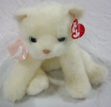 "TY 2002 Classic SOFT WHITE ISIS KITTEN CAT 8"" Plush Stuffed Animal W/ TAG - $24.74"