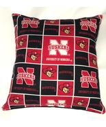 Nebraska University Pillow Huskers Pillow Football Pillow NCAA HANDMADE ... - $9.99
