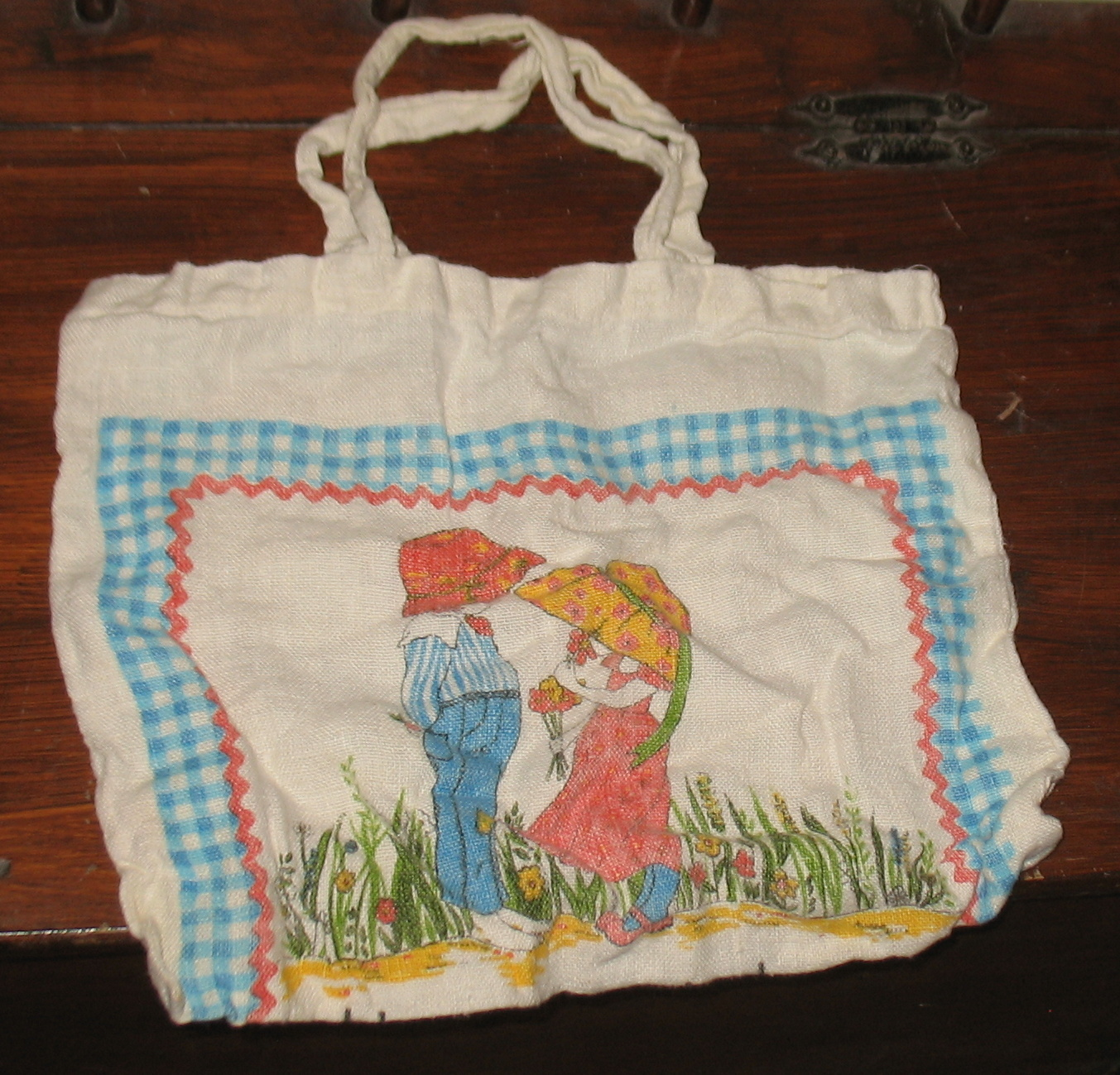 Vintage 1978 Calendar Towel Tote, Happiness is Love