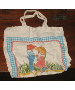 Vintage 1978 Calendar Towel Tote, Happiness is Love - $15.55