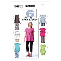 Butterick Patterns 4201 Misses'/Misses' Petite Maternity Top, Shorts and... - $14.70