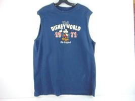 Walt Disney World 1971 Blue Sleeveless Tank Top Mens L - $19.79