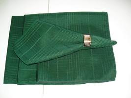 "Set Of 4  Green Cloth Napkins 17"" x 17""  - $10.99"