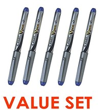 Pilot Vpen Medium Point Disposable Fountain Pen (5pcs), Blue Ink, SVP-4M - $22.50
