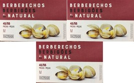Berberechos Natural Cockles 45/55 Gourmet Canned 3 Units Spices of the World - $49.99