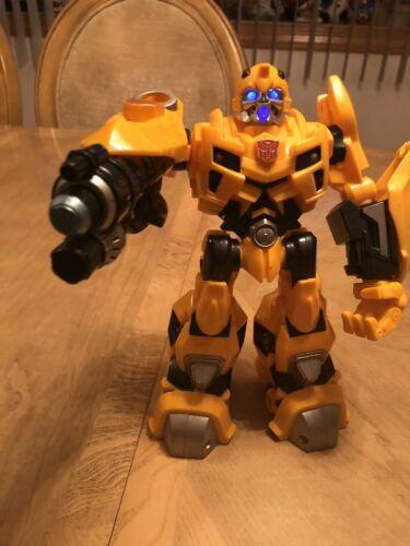 "Bumblebee Transformer 2009 Hasbro 10"" Talks and Lights Up EUC"
