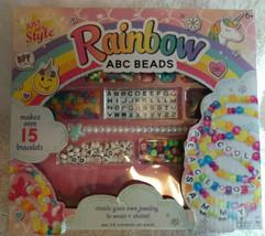 Just My Style Rainbow ABC Beads Kit Jewelry Bracelets w/ Instructions 6+ - $12.82
