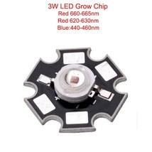 10pcs 3W 45mil led grow Chip Deep Red 655 660nm 620 630nm Royal Blue 440... - €17,33 EUR