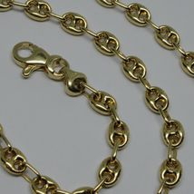 """18K YELLOW GOLD OVAL NAUTICAL MARINER CHAIN 5 MM, 24"""", ANCHOR ROUNDED NECKLACE image 7"""