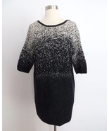 Urban Outfitters XS EXTRA SMALL black white gradient knit long tunic swe... - $29.98