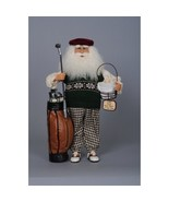 Karen Didion Santa Claus golf bag golfer - $105.00