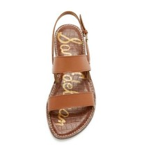 Sam Edelman Georgiana Sandal Size 9.5 Cognac Brown 2 Strap Ankle Strap Sandals - $27.44