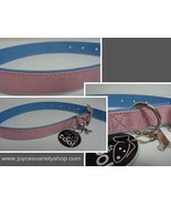 """Fancy Dog Collar NWT Adjustable 22"""" Large Size Breed Pink&Blue Soft Faux... - $8.99"""
