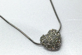 AUTHENTIC SWAROVSKI Heart Crystal Pendant Silver - $90.00