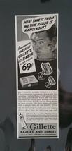 Vintage 1938 Gillette Razors and Blades Ad - $6.64