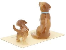 Hagen Renaker Dog & Puppy Labrador Retriever Golden Ceramic Figurine Set image 4