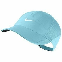 NEW! Nike Women FeatherLight Hat Dri-FIT Tennis/Golf Cap- Blue 595511-444 - $69.18