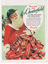 1942 SANTA CLAUS CHESTERFIELD CIGARETTES WWII Military People on Boxes P... - $9.99