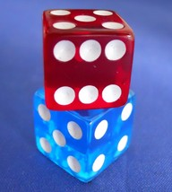 Monopoly Spiderman 3 Movie Translucent Red & Blue Dice Replacement Game ... - $7.99