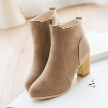 New Spring Autumn Women Ankle Boots Ladies Worker Boots Pointed Toe Zipper Th... - $20.03+