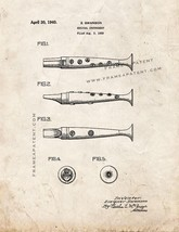 Musical Instrument Patent Print - Old Look - $7.95+